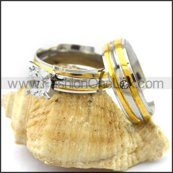 Graceful Stainless Steel Couple Rings  r002977