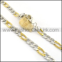 Fashion Two Tone Necklace n000618
