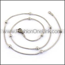 Silver Small Chain with Silver Bead n001176