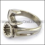 Stainless Steel Biker  Ring r003669