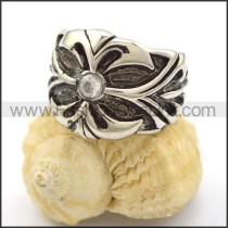 Delicate Stainless Steel Cross Ring  r001810