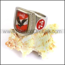 Stainless Steel Biker Ring  r003709