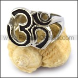 Stainless Steel Biker Ring r003668