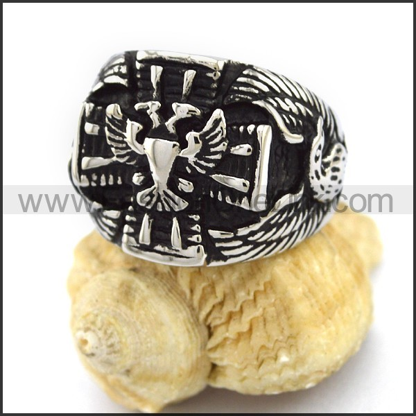 Unique Stainless Steel Casting Ring  r003008