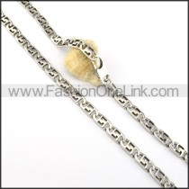 Silver Succinct Stamping Necklace    n000321