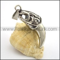 Delicate Stainless Steel Casting Pendant     p001763