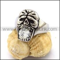 Delicate Stainless Steel Skull Ring  r003165