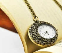 Beautiful Moon Pocket Watch Chain PW000038