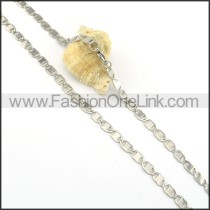 Elegant Silver Stamping Necklace    n000300