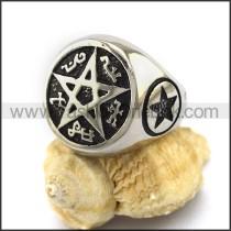 Stainless Steel Pentacle Ring  r003040