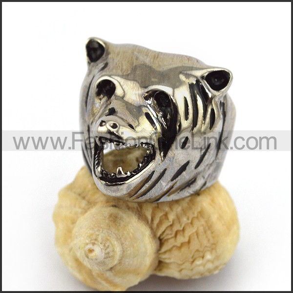 Cute Bear Stainless Steel Ring   r003565