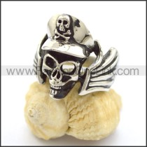 Exquisite Stainless Steel Skull Ring  r001793