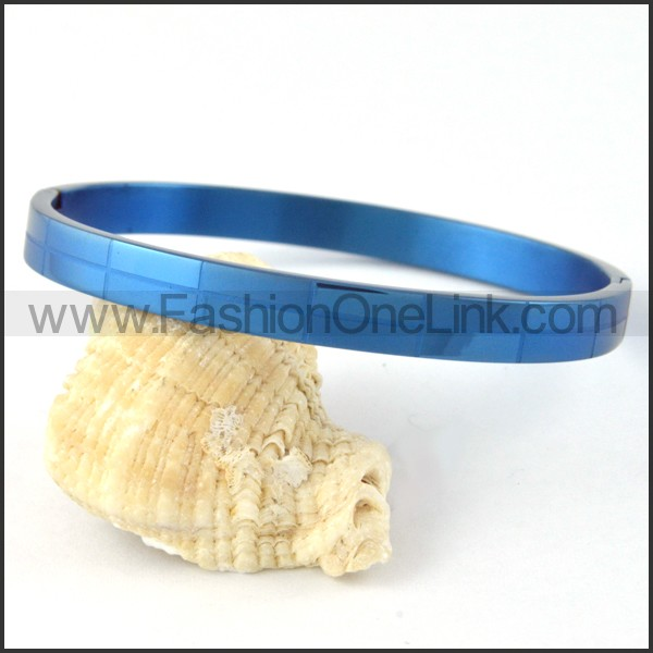 Blue Small Rectangle Design Couple Bangle b000411