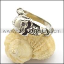 Delicate Skull Stainless Steel Ring    r002423
