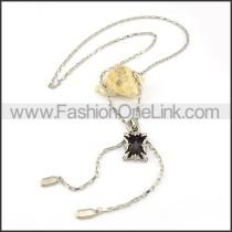 Vintage Black Stone Necklace   n000236