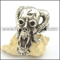Stainless Steel Delicate Skull Ring r002036