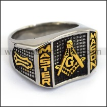 Exquisite Stainless Steel Casting Ring  r003610