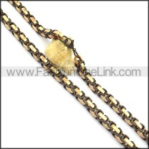 High Quality Two Tone Plated Necklace n000720