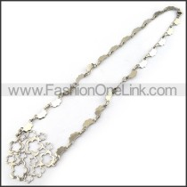 Hollowed-out Flower Fashion Necklace n001205