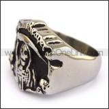 Stainless Steel Biker  Ring     r003677