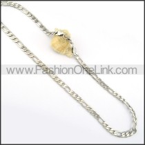 Decorous Silver Stamping Necklace      n000246