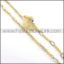 Unique Golden and Silver Plated Necklace n000538