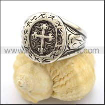 Delicate Stainless Steel Cross Ring  r001811