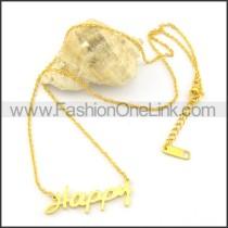 Golden HAPPY  Fashion Necklac     n000465
