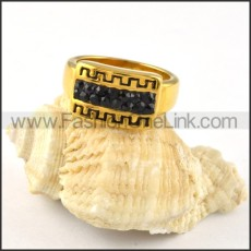Stainless Steel Great Wall Ring r000254