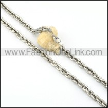 Silver Chain Stamping Necklace   n000075