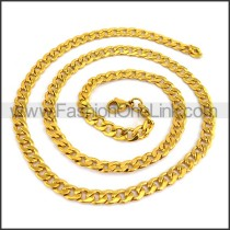 Succinct Golden Plated Necklace n001191