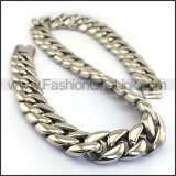 Silver Interlocking Stamping Necklace n001138
