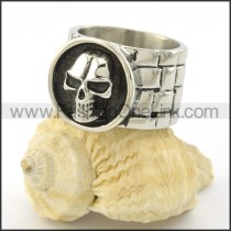 Stainless Steel Comfort Fit Skull Ring r001140