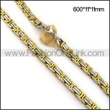 Gold and Silver Plated Necklace n001113