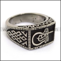 Exquisite Stainless Steel Casting Ring r003596