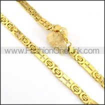 Golden Stainless Steel Necklace     n000181