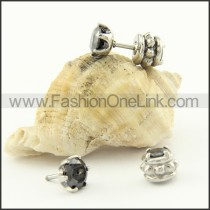 Exquisite Stainless Steel Stone Earrings     e000708