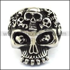 Stainless Steel Skull Ring  r003713