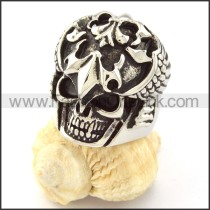 Stainless Steel Cool Solider Skull  Ring r000703