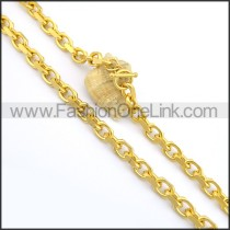 Exquisite Golden Plated Necklace n000702