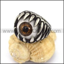 Exquisite Stainless Steel Eye Ring r002872