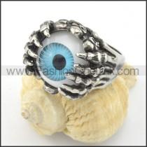 Stainless Steel Prong Setting Eye Ring r001197
