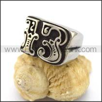Stainless Steel Biker Ring    r003318