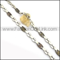 Decorous Black and Silver Plated Necklace n000836