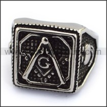 Exquisite Stainless Steel Casting Ring  r003618