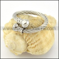 Stainless Steel Classic Rope Ring r000591