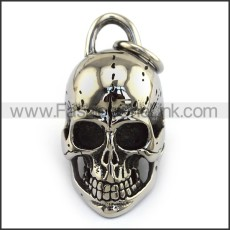 Exquisite Stainless Steel Skull Pendant   p004051