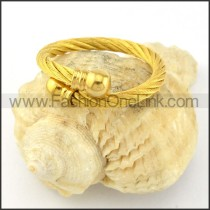 Stainless Steel Classic Rope Ring r000583