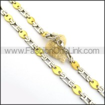 Delicate Two Tone Plated Necklace n000786