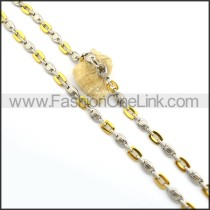 Chic Two Tone Plated Necklace n000785